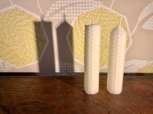 2つの形のミツロウキャンドル