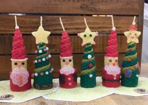 クリスマスキャンドル作り