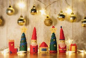 クリスマスキャンドルづくりセットでできるキャンドル