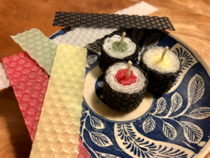 細巻き寿司キャンドル