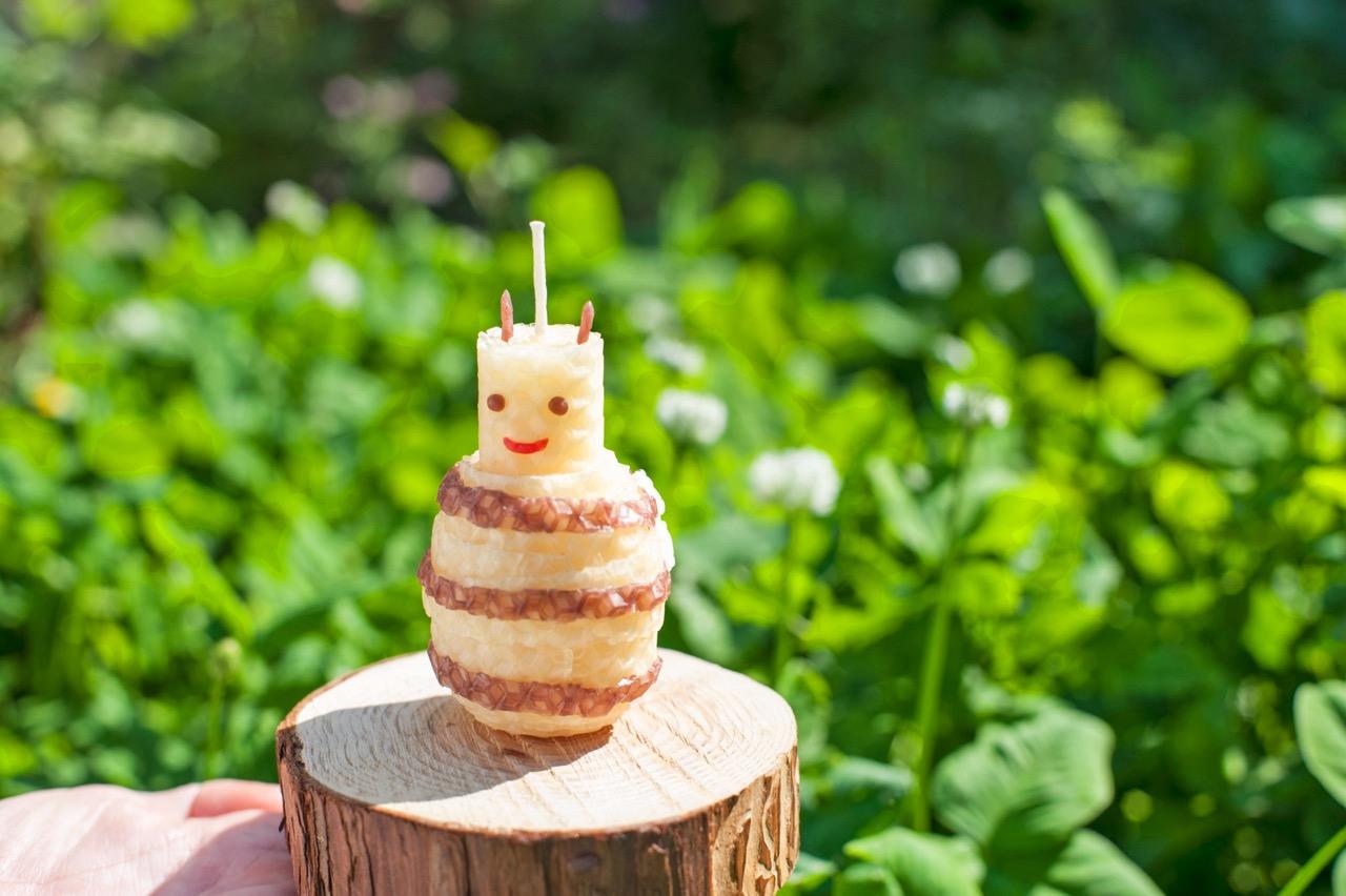 ミツバチキャンドル